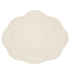 Linho Oval Linen Mat Ivory - Set of 2