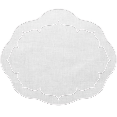 Linho Oval Linen Mat White – Set Of 2