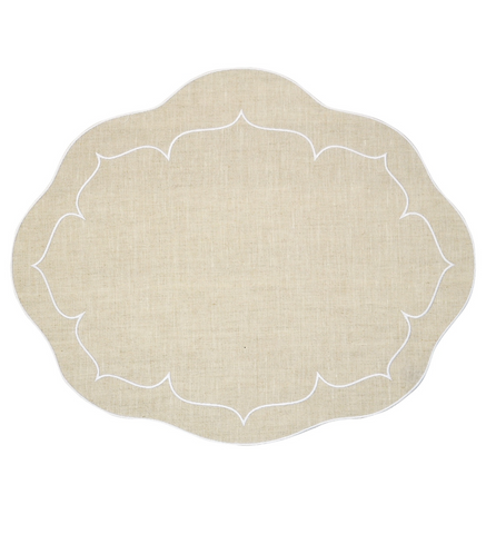 Linho Oval Linen Mat Natural – Set Of 2