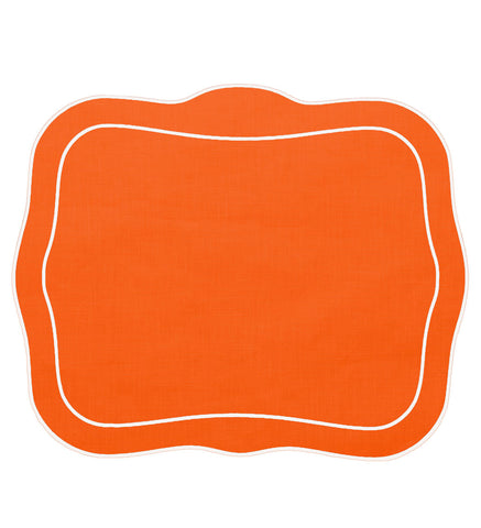 Linho Patrician Linen Mat Orange – Set Of 2
