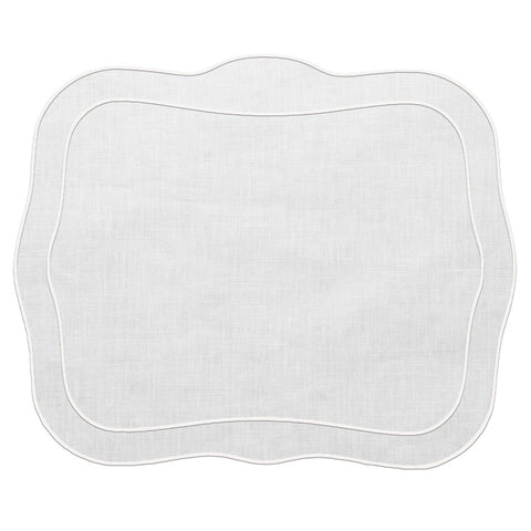 Linho Patrician Linen Mat White – Set Of 2