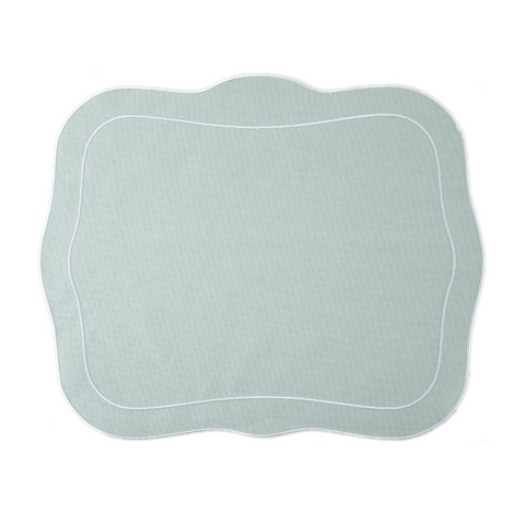 Linho Patrician Linen Mat Ice Blue - Set of 2