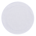 Linho Simple Round Placemat White / White - Set of 2