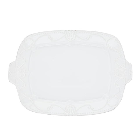 Isabella Rectangular Tray Pure White