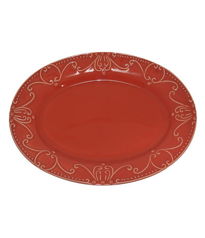 Isabella Oval Platter Venetian Red