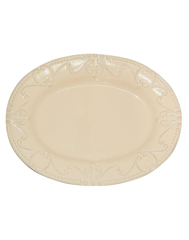Isabella Oval Platter Yellow Creme