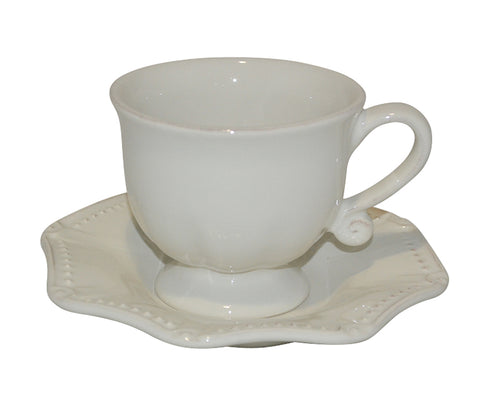 Isabella Cup & Saucer Ivory