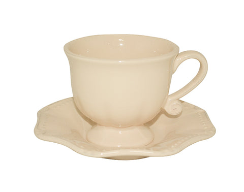 Isabella Cup & Saucer Yellow Creme