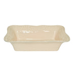 Isabella Small Rectangular Baker Yellow Creme