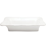 Isabella Large Rectangular Baker Pure White