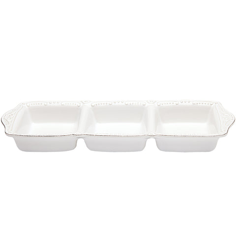 Isabella 3 Part Divided Tray Pure White