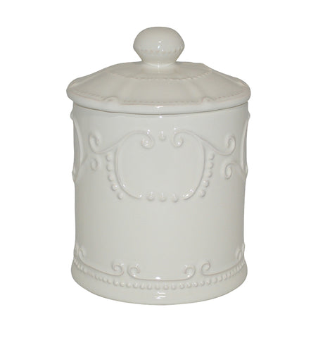 Isabella Coffee Canister w/ Seal Ivory