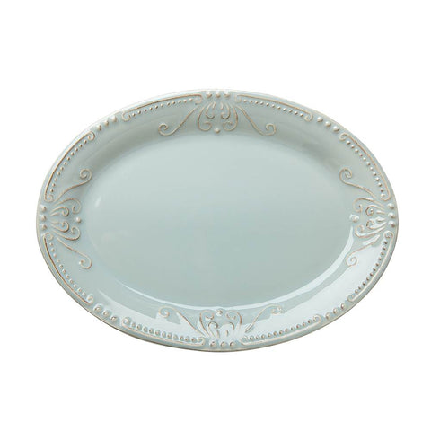 Isabella Small Oval Platter Ice Blue