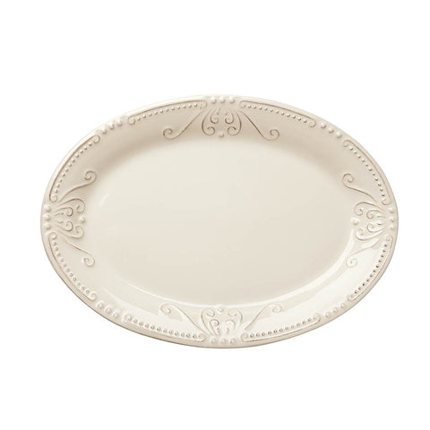 Isabella Small Oval Platter Ivory