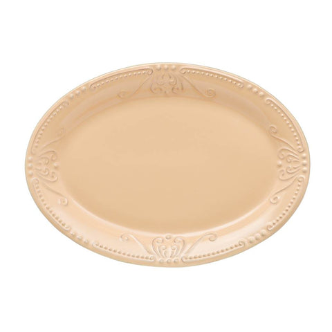 Isabella Small Oval Platter Yellow Creme