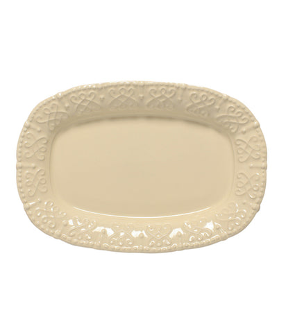 Historia Small Oval Platter Parchment