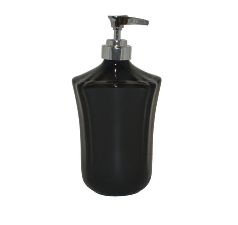 Royale Bath Soap/Lotion Dispenser with Metal Pump Black