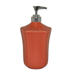 Royale Bath Soap/Lotion Dispenser with Metal Pump Persimmon