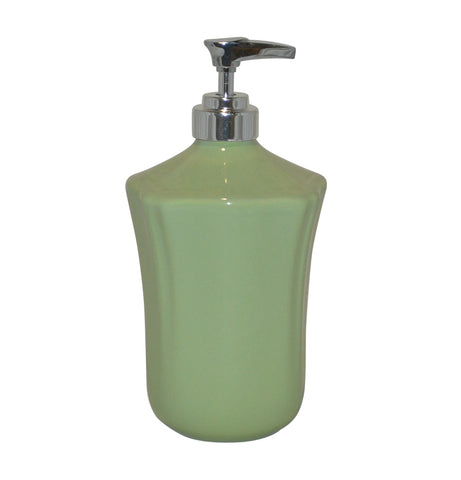 Royale Bath Soap/Lotion Dispenser with Metal Pump Sage