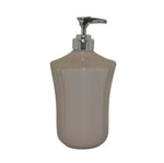 Royale Bath Soap/Lotion Dispenser with Metal Pump Taupe