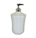 Royale Bath Soap/Lotion Dispenser with Metal Pump White
