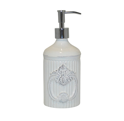 Crista Soap/Lotion Dispenser with Metal Pump White