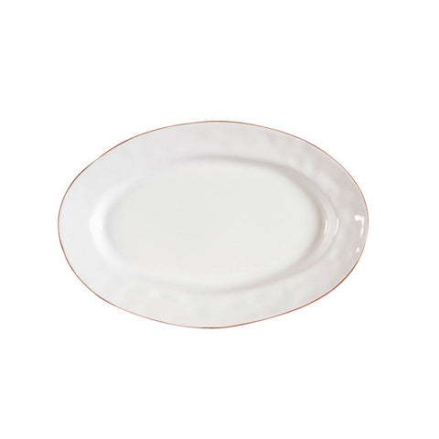 Cantaria Small Oval Platter White