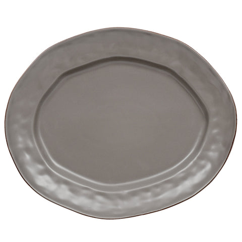 Cantaria Large Oval Platter Charcoal