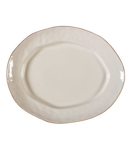 Cantaria Large Oval Platter Ivory