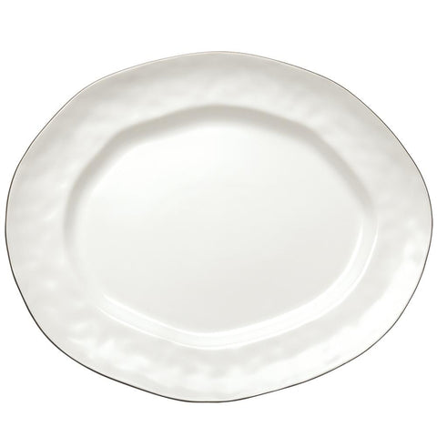Cantaria Large Oval Platter Matte White