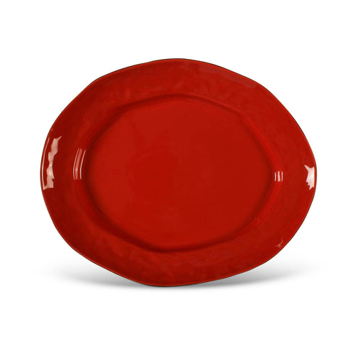 Cantaria Large Oval Platter Poppy Red