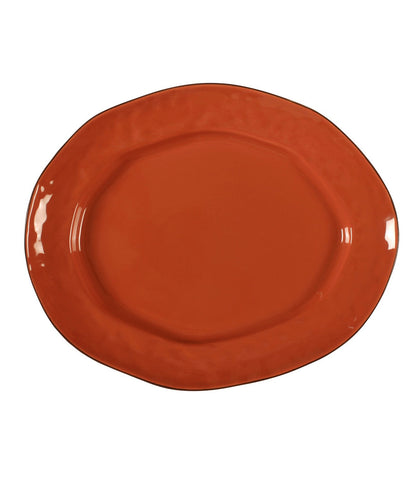 Cantaria Large Oval Platter Persimmon