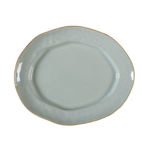 Cantaria Large Oval Platter Sheer Blue