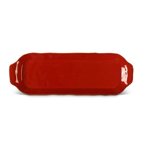 Cantaria Rectangular Tray Poppy Red