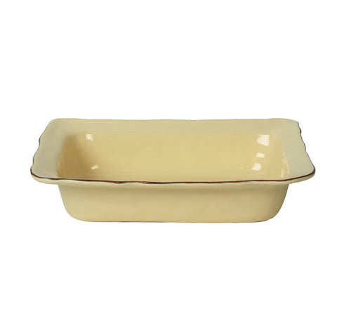 Cantaria Medium Rectangular Baker Almost Yellow