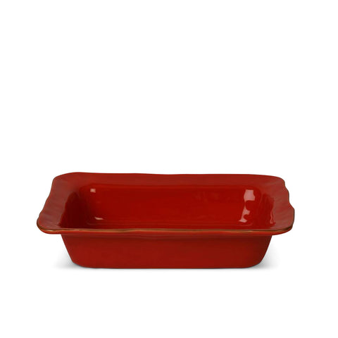Cantaria Medium Rectangular Baker Poppy Red