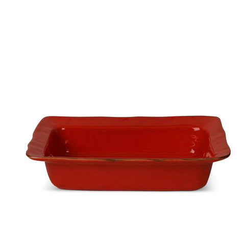 Cantaria Large Rectangular Baker Poppy Red