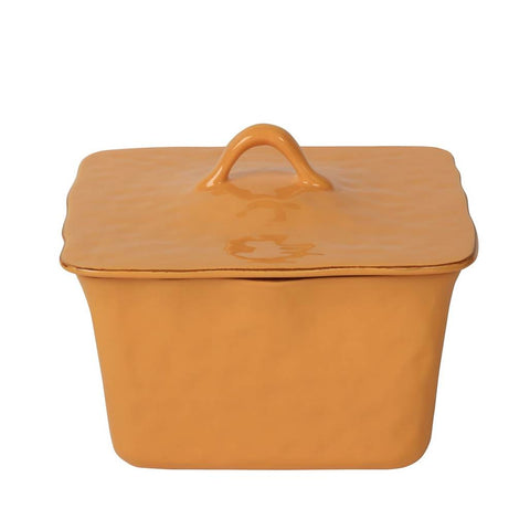 Cantaria Square Covered Casserole Golden Honey
