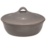 Cantaria Round Covered Casserole Charcoal