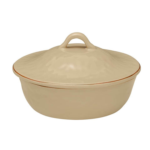 Cantaria Round Covered Casserole Sand