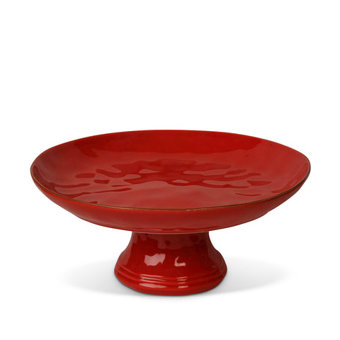 Cantaria Large Cake / Fruit Stand Poppy Red