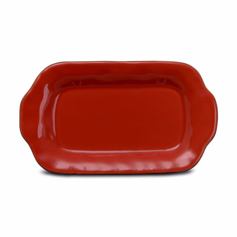 Cantaria Butter/Sauce Server Tray Poppy Red