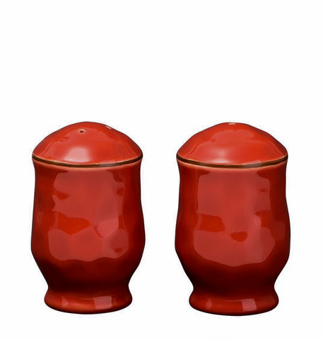 Cantaria Salt and Pepper Set Poppy Red