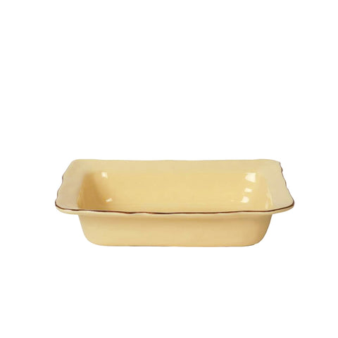 Cantaria Small Rectangular Baker Almost Yellow