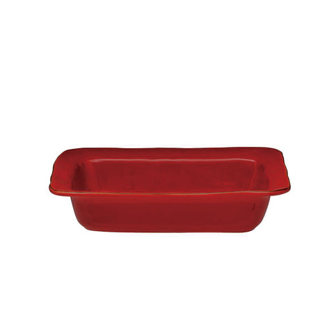 Cantaria Small Rectangular Baker Poppy Red