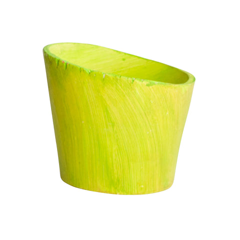 Small Planter Lime Green