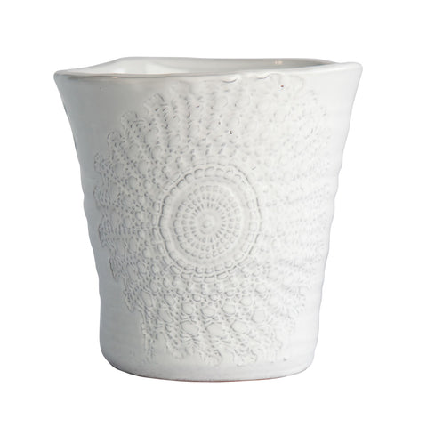 Floral Lace Medium Planter