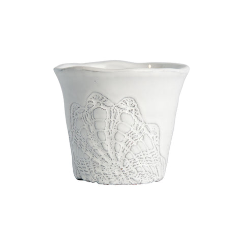 Floral Lace Small Planter