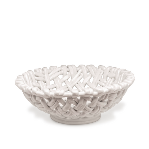 Round Basket White