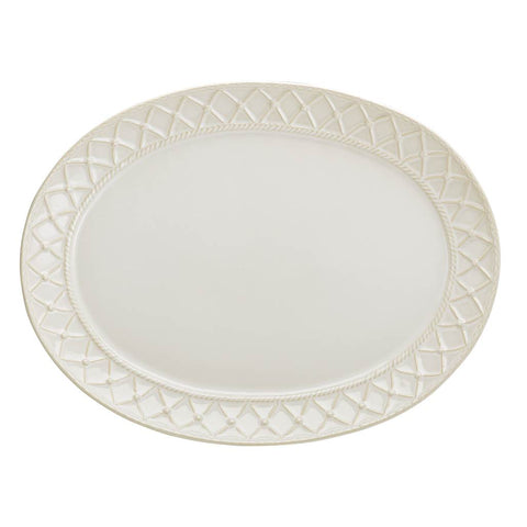 Alegria Large Oval Platter Natural Linen